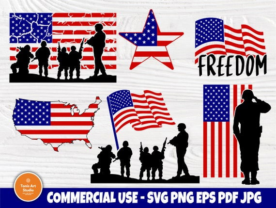 American Flag SVG Bundle, July 4th, Patriotic Svg