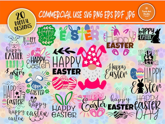 Happy Easter SVG, Easter Gnome Svg, Easter Eggs, Easter Bunny Svg, Kids easter Signs, Svg Files for Cricut, Silhouette Files, Svg Cut Files