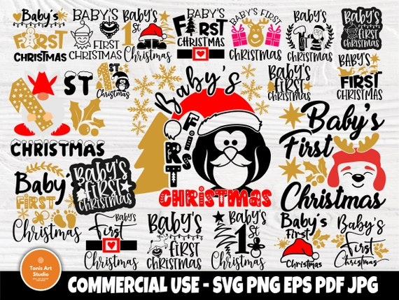 Baby's First Christmas SVG Bundle, Svg Cut Files