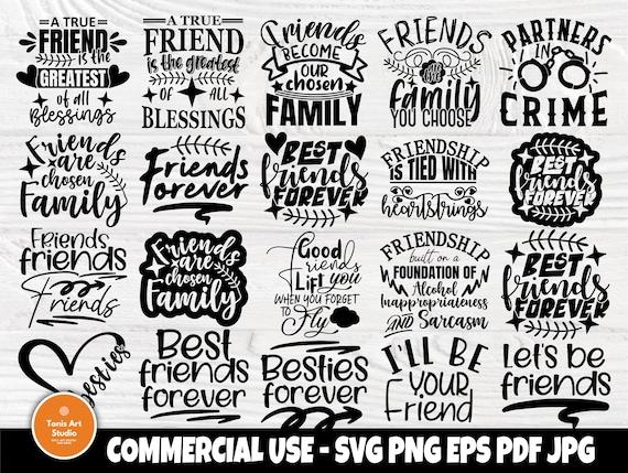 Friendship Svg Bundle, Best Friends Svg Designs