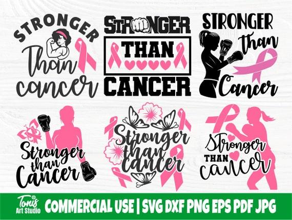 Stronger Than Cancer SVG Bundle, Cancer Svg, Png