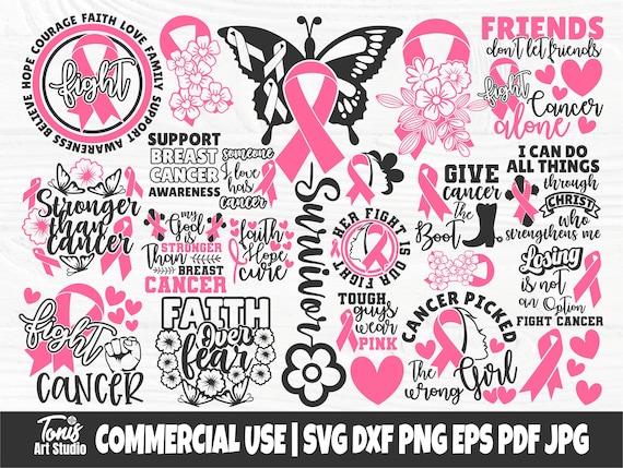 Breast Cancer SVG Bundle, Ribbon Svg, Survivor Svg