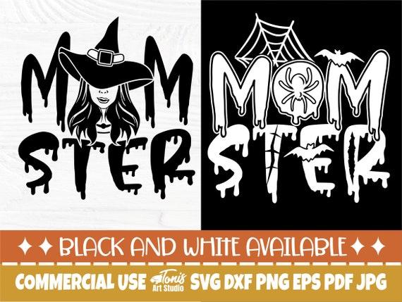 Momster Shirt SVG, Halloween Mom Svg, Spooky Png