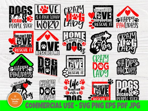 Dog SVG Bundle, Dog Signs, Paw Svg, Svg Files for Cricut