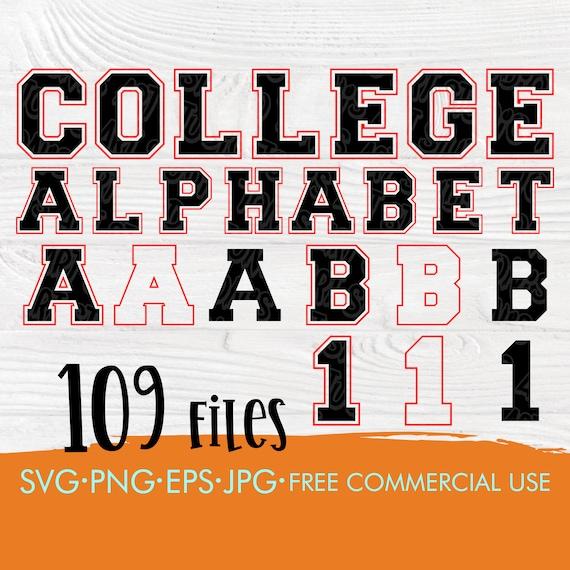 Varsity font SVG | College font svg | Varsity alphabet svg | Svg cut files for cricut | Varsity letters and numbers | Sport alphabet svg