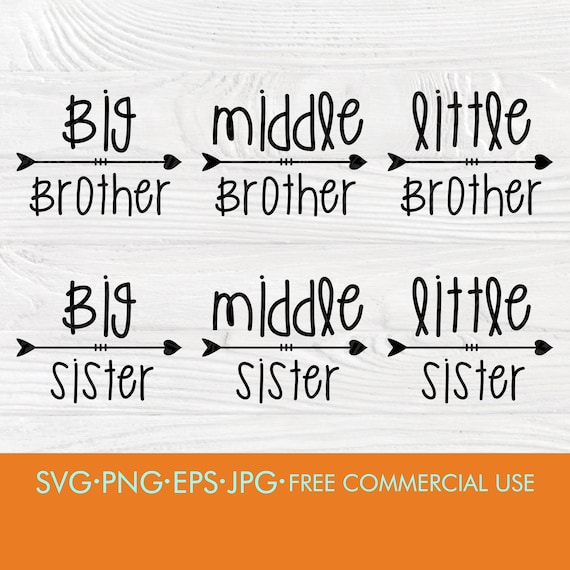 Brother and sister SVG | Brother svg | Sister svg | Cut files for cricut | Svg design | Silhouette cut files | T shirt printing | Digital
