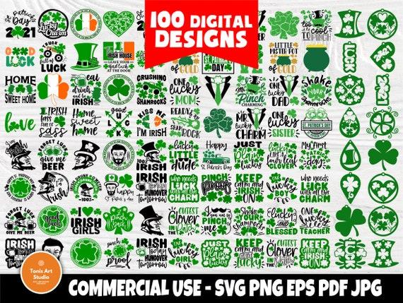 St Patricks Day SVG Bundle, Clover, Shamrock Cut Files, Lucky Charm, Svg Bundle, Shirt Designs, Cricut, Silhouette, St. Patrick's Day Png