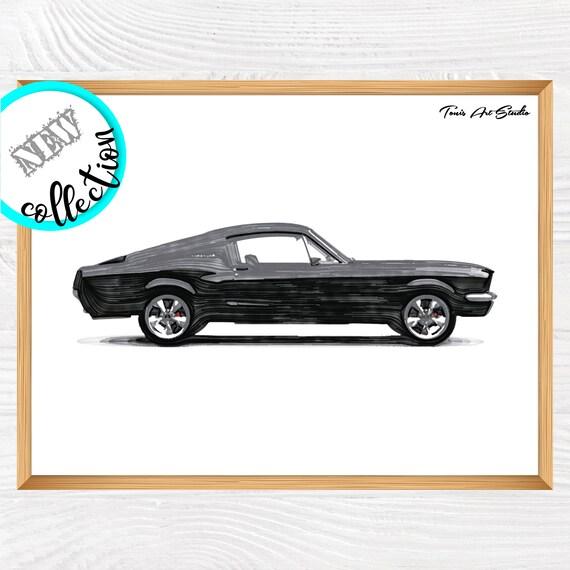 Transportation Decor | Muscle car wall decor | Boy room decor | Vehicles watercolor | Car wall art | Printable art | Car print | Vehicle art