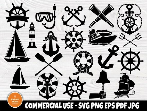 Anchor SVG Bundle, Nautical Svg, Boat Svg, Summer