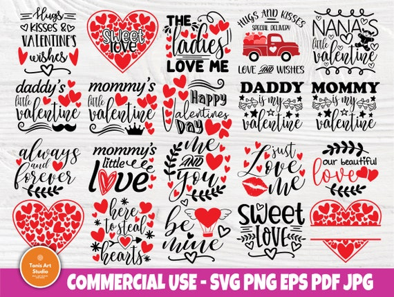 Valentines Bundle SVG Quotes, Hearts Svg, Love Svg