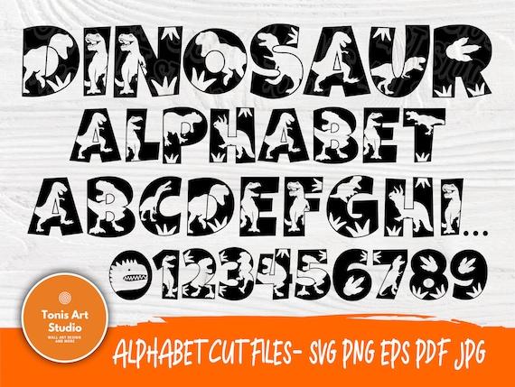 Dinosaur Font SVG | Dinosaur Alphabet | Dinosaur Cut Files | Dinosaur Monogram | Svg Files for Cricut and Silhouette | Dinosaur Letters Svg