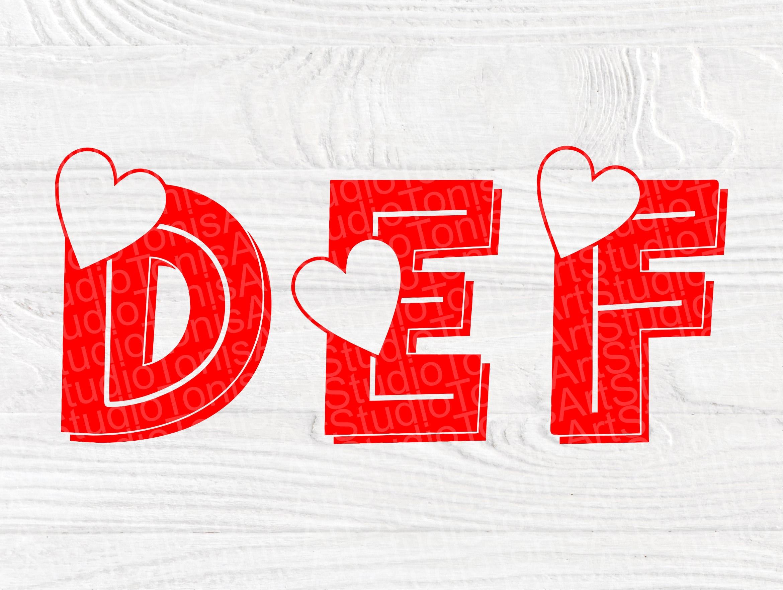 Download Heart Font SVG | Valentines Alphabet Svg | Font Cut Files ...