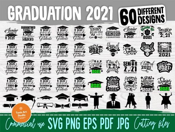 Graduation SVG Cut Files | Class of 2021 Svg | Senior 2021 Svg | Graduation Bundle Svg | Silhouette Svg | Cricut Svg Files