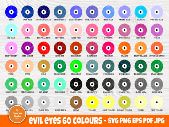Evil Eye Wall Art, Evil Eye Charm SVG, Boho Print