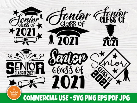 Senior Class of 2021 SVG Bundle, Graduation Svg
