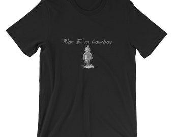 54a24ca5591 Ride e'm cowboy - Short-Sleeve Unisex T-Shirt
