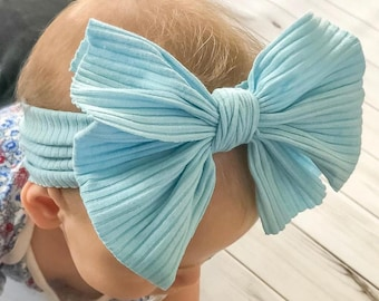 Taupe Bow Headband Large Bows Turban Bows Turban Headwrap Oversized Baby Bows Big Bows 5 Baby Bows Nude
