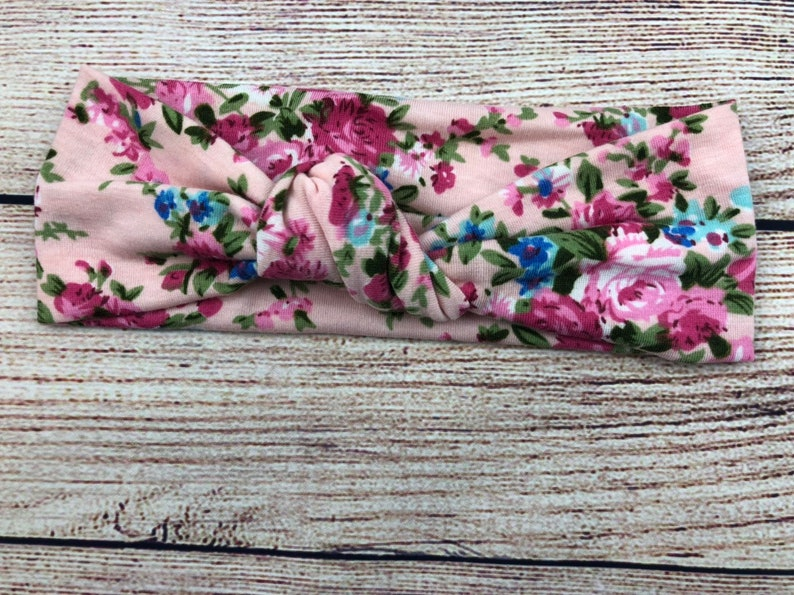 Baby /& Toddler Girl Pink Floral Pink Knot Cotton Headband