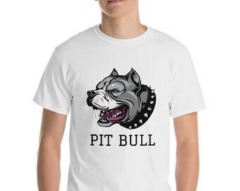 e51bfbcdf Short-Sleeve T-Shirt Pitbull head - dog t shirt pit bull top tee design - mens  womens kids baby