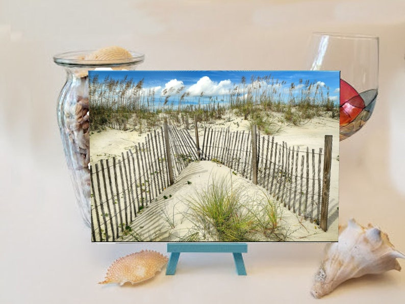 Fence in the Sand Cutting Board image 0