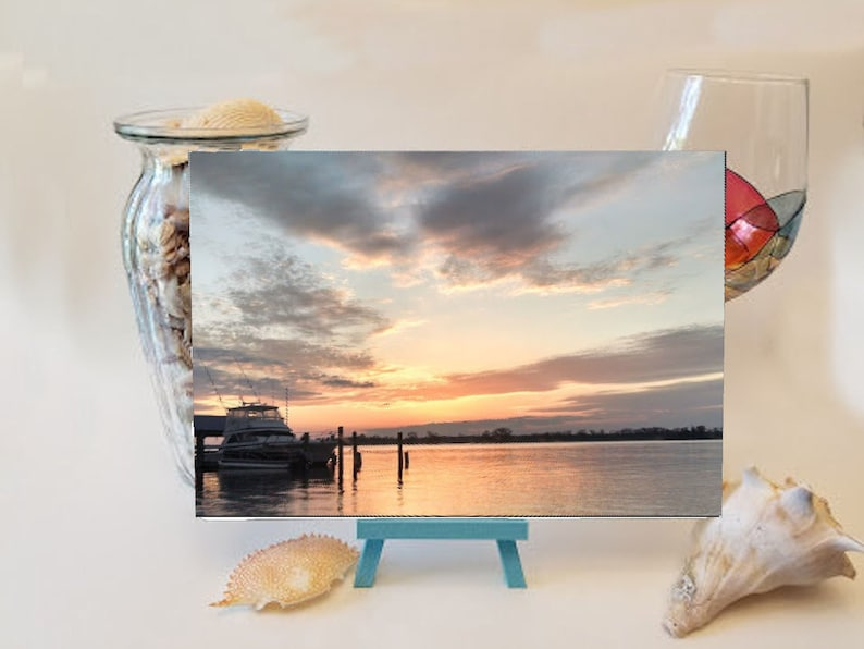 Marsh Walk at Sun Rise Cutting Board image 0