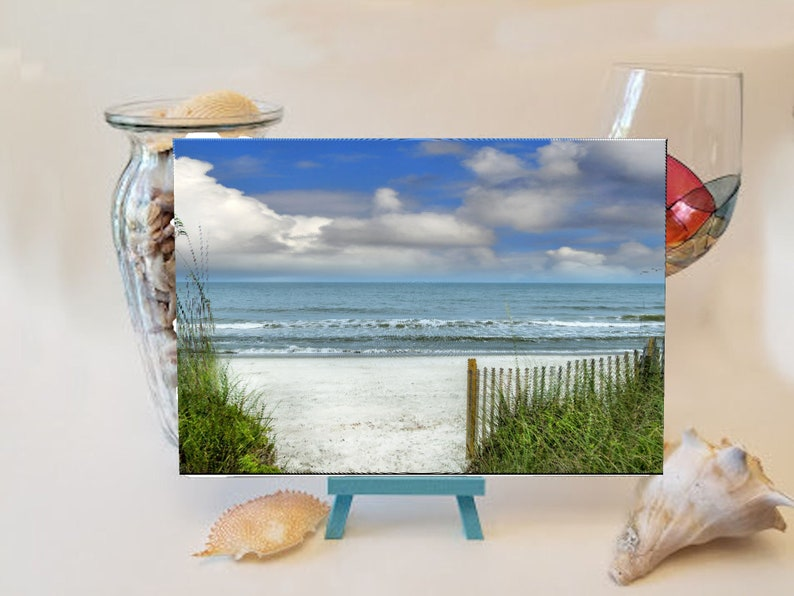 Entrance to the Beach Cutting Board image 0