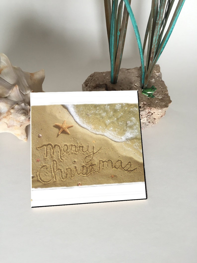 Merry Christmas Ceramic Coaster image 0
