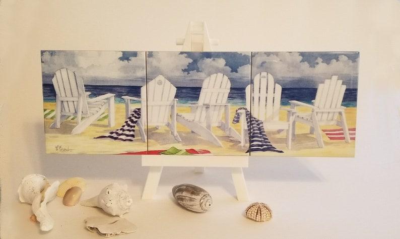 3 Tile Beach Chairs image 0
