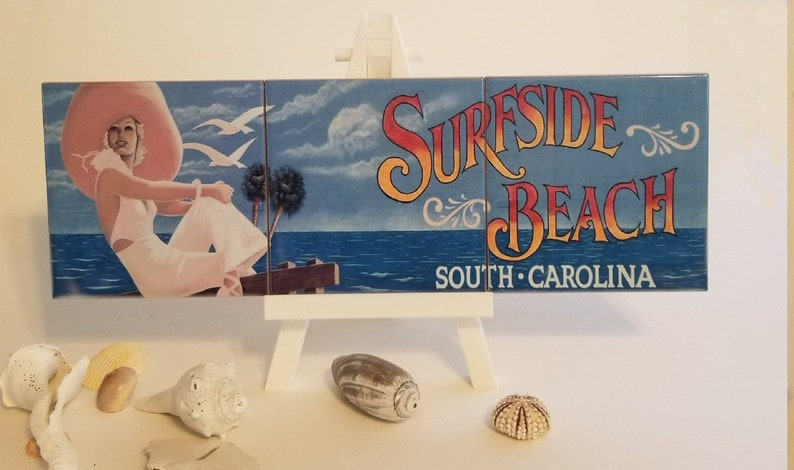 3 Tile Surfside Beach Mural image 0