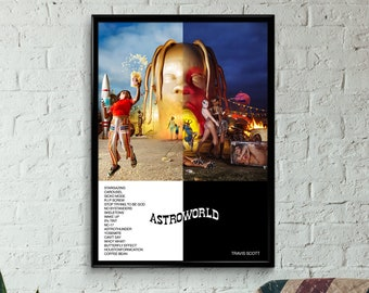 49f43f30f5c4 Travis Scott - Astroworld Album Poster, Wall Art, Print, A3, A2, A1