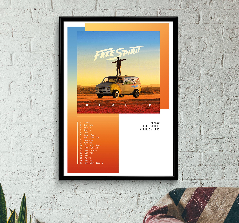 Khalid - Free Spirit Album Poster, Wall Art, Print, A3, A2, A1
