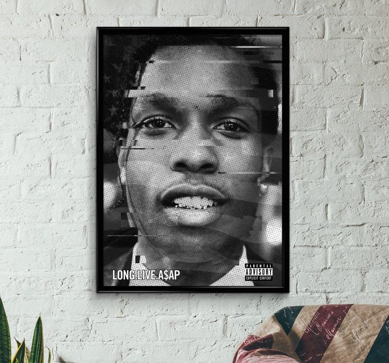 Asap Rocky - Long Live Asap Poster, Wall Art, Print, A3, A2, A1