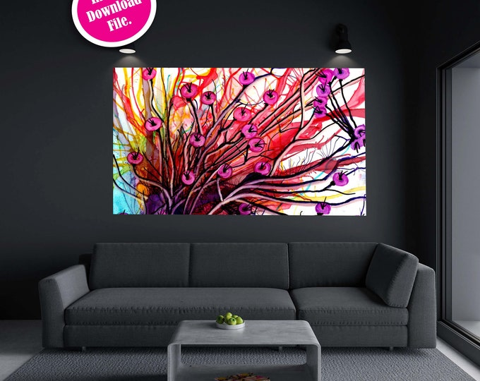 Alcohol Ink Abstract Painting Wall Decor, Printable Art Prints, Instant Download Abstract Art Print, Downloadable Wall Art