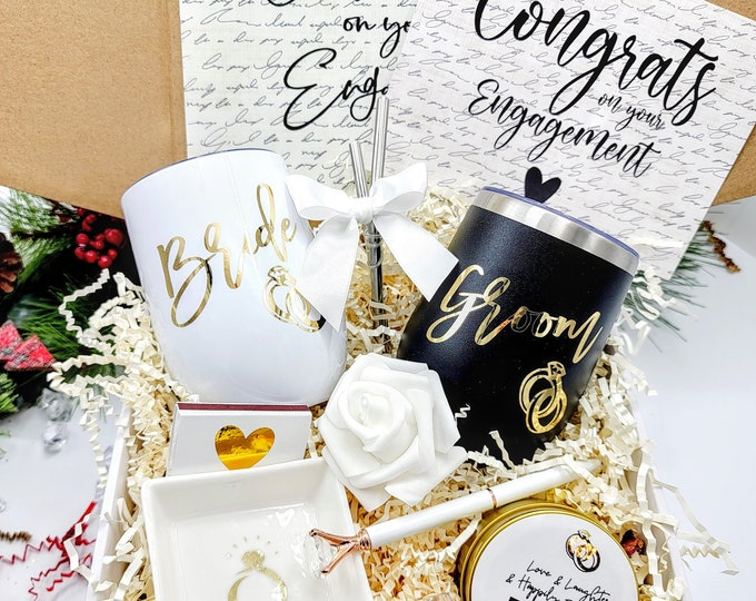 Couples Engagement Gift for Bride and Groom Gift, Bride and Groom Engagement gift box, Engagement Party Gifts for Couple Gift Ideas-EGFC002