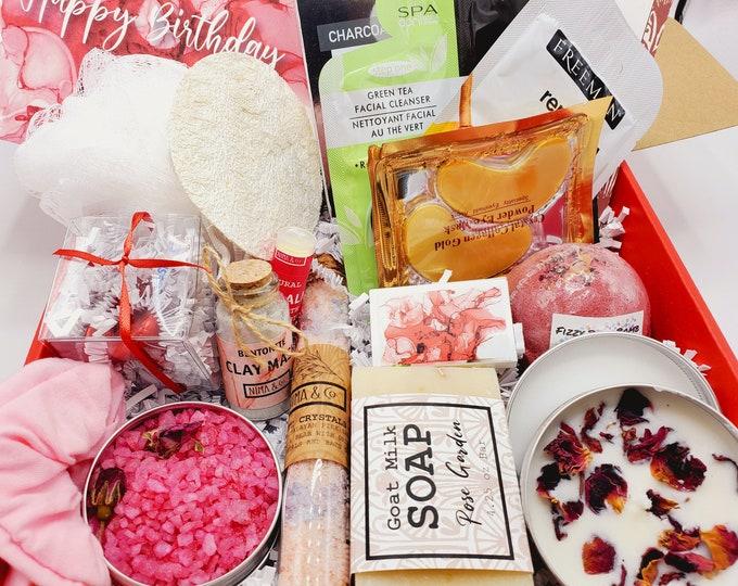Spa Gift Box For Her Birthday, Birthday Gift Box For Women, Gift Basket For Her, Birthday Gifts, Spa Gift Set, Spa Gift Basket - SBDS05B