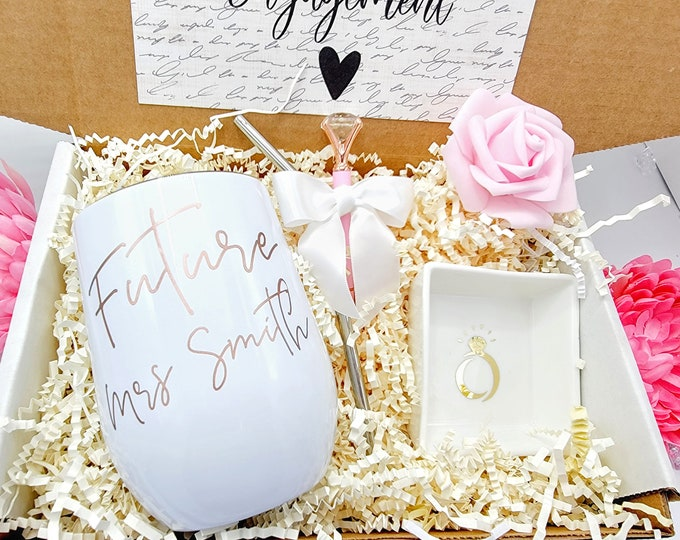 Bride to be Gift Box, Bridal Shower Gift, Engagement Gift, Future Mrs Gift, Engagement Gift Box, Bridal Shower Gift, Bride Box - BGBU30-002