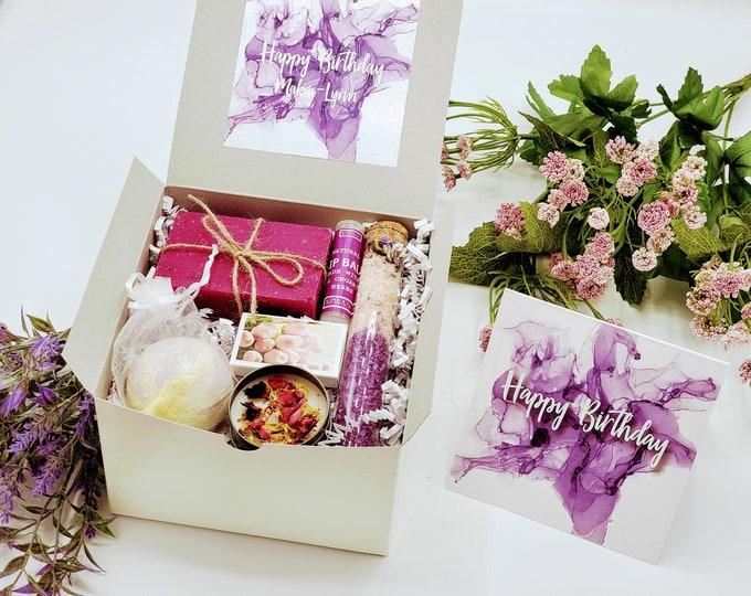 Happy Birthday Box For Best Friend, Birthday Gift Box for Women, Birthday Gift For Her, Birthday Gift, Gift Box, Birthday Gift Basket- SGB08