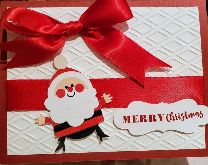Santa Handmade Christmas Card