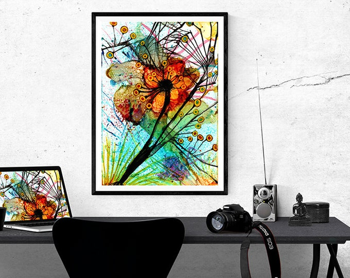 Abstract Art Print, Printable Wall Art, Abstract Wall Art, Downloadable Wall Art, Modern wall Art, Floral Wall Art, Instant Download