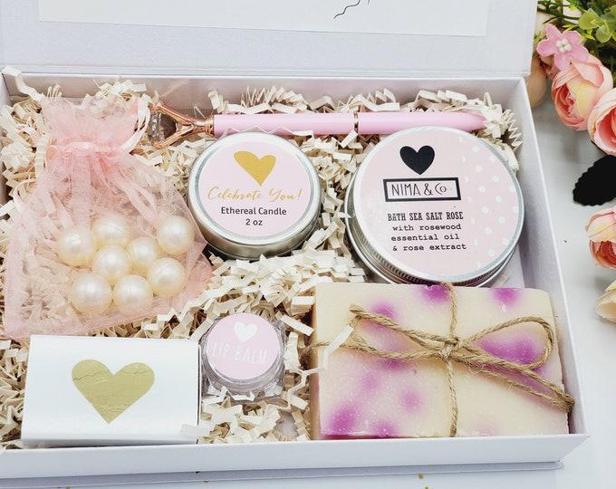 Gift Box for Women, Spa Birthday Gift Box, Birthday Gift Basket For Friend, Gift Set For Women Birthday, Gifts For Her, Spa Gift Set BDGB011