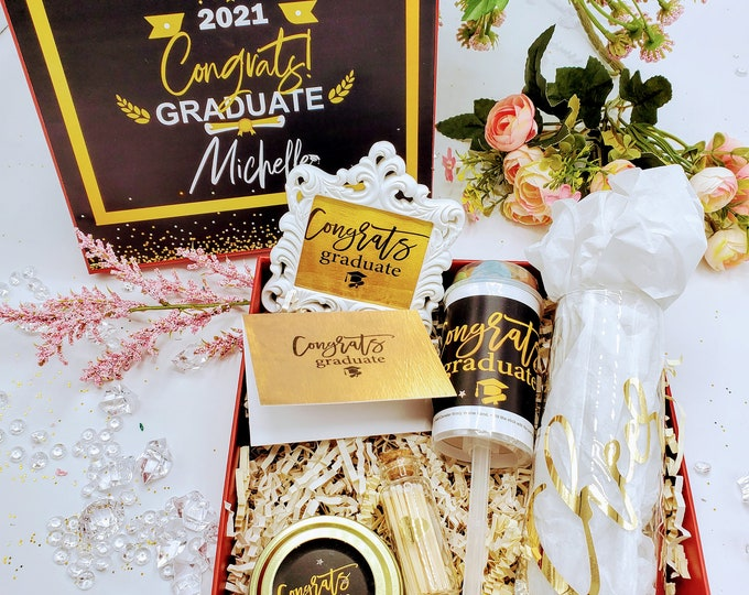 College Graduation Gift Box, Congratulations Graduate Gift, Masters Graduation Gift, Graduation Gift for Him, Graduation Gifts - GGB01