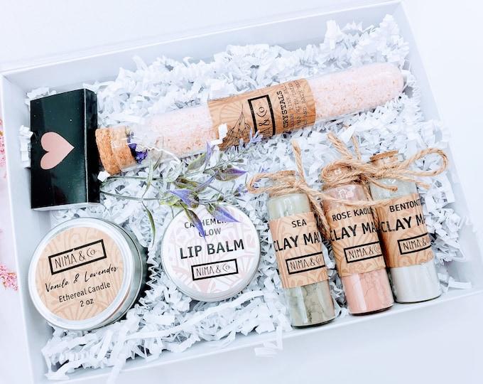 Birthday Spa Gift Box for Her, Christmas Gift Box for Women, Spa Gift Set, Gift Set for Women, Mom Gift, Gift Box, Anniversary Gift - SGB01