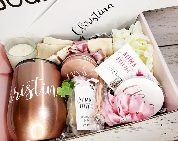 Godmother Proposal Box with Wine Tumbler