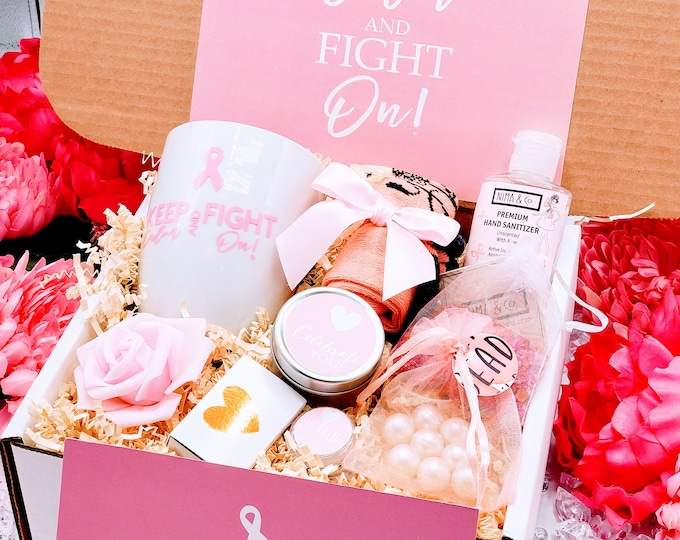 Cancer Care Box • Cancer Care Package for Women • Chemo Care Box • Cancer Support • Cancer Gift • Healing Care Box • Thinking of You - CGB01