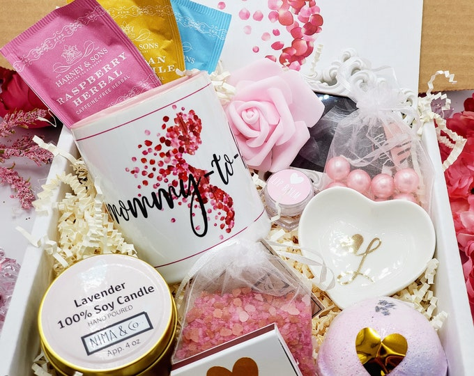Pregnancy Gift, Expecting Mom Gift, Baby Shower Gift, Mom To Be Gift, Pregnancy Best Friend Gift, Gift Set for Her, Gift Basket - MTGB12