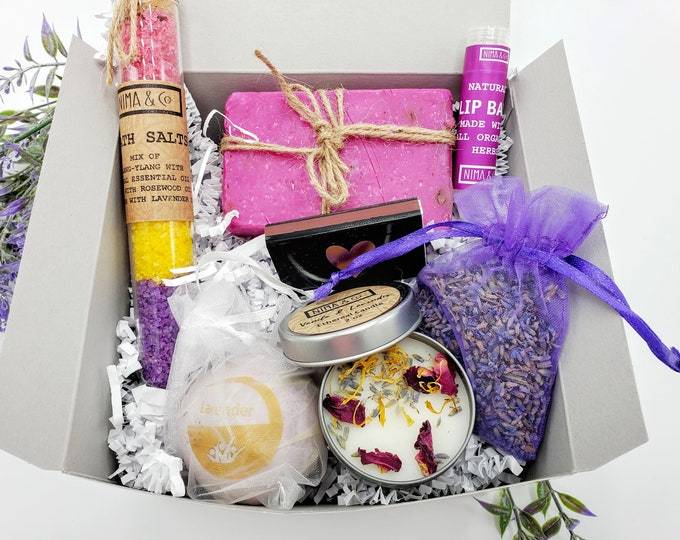 Mini Birthday Gift Box for Women, Birthday Gift For Her, Friends Gift, Spa Gift Set, Christmas Gift, Spa Gift Basket - SGB08