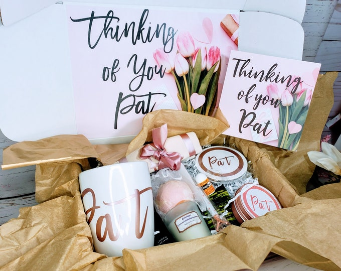 Thinking of You Quarantine Gift Box or a Long Distance Gift, Mothers Day Gift Box, New Mom Gift, Valentines Day Gift for Her
