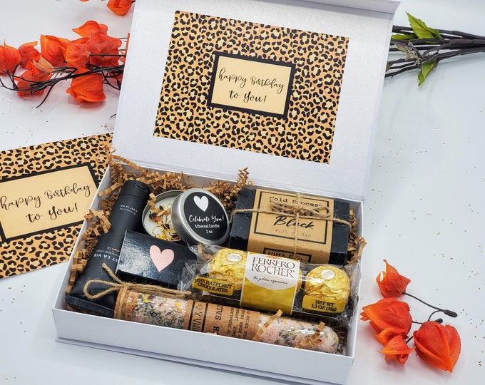 Happy Birthday Gift Box, Birthday Gifts, Gift Box for Women, Spa Gift Box, Birthday Gift Box for Her, Spa Gift Set for Friend- SGB01