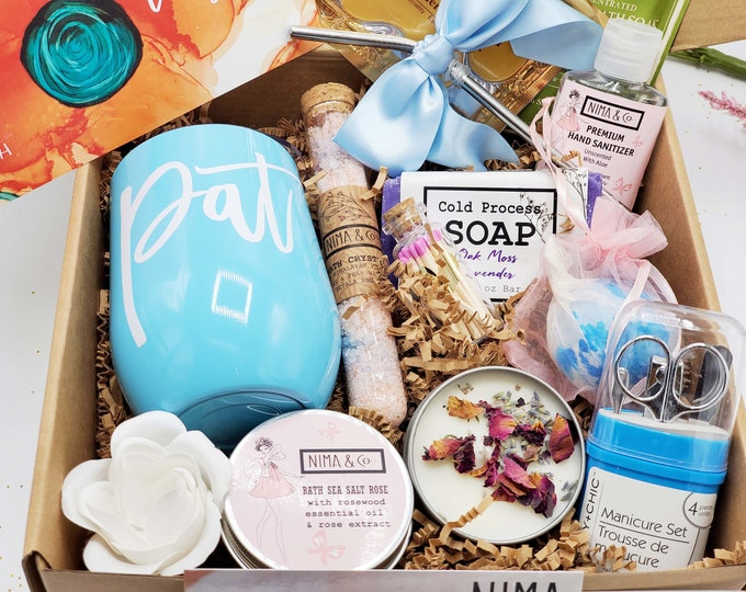 Birthday Gift Box For Her, Birthday Gift Box for Women, Gifts For Her, Friend Gifts, Spa Gift Set, Gift for Mom Gift Basket - BDGB017