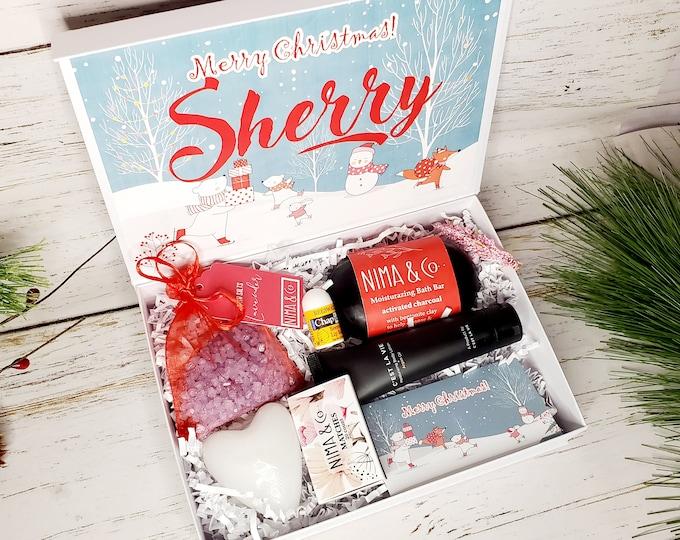 Christmas Gift Box for Women, Personalized Gift, Spa Gift Set, Christmas Gift Set, Christmas Gift for Her, Spa Gift Basket, Teacher Gift